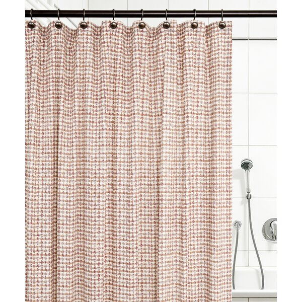 Brandon Ikat Check 100% Cotton Shower Curtain by Langley Street